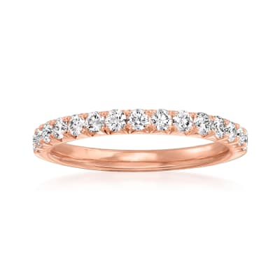 Henri Daussi .45 ct. t.w. Diamond Wedding Ring in 14kt Rose Gold