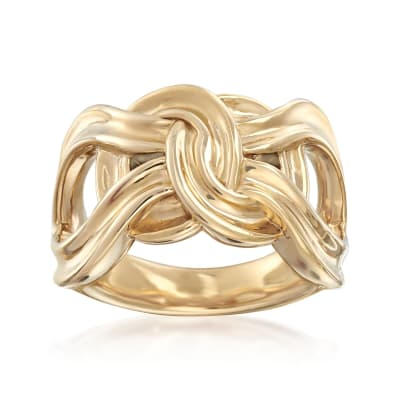 14kt Yellow Gold Infinity Knot Ring