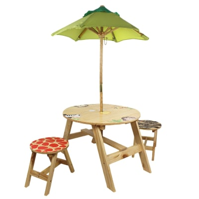 """Child's """"Sunny Safari"""" Outdoor Table and Chair Set"""
