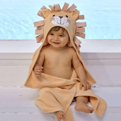 Elegant Baby Hooded Lion Personalized Bath Towel