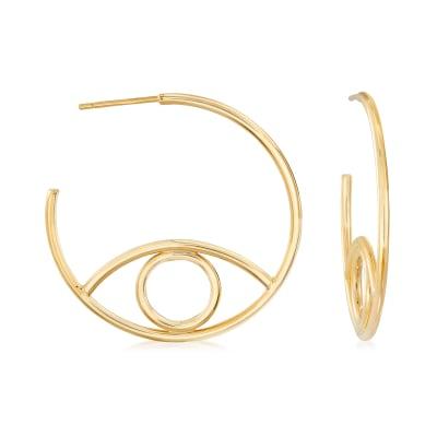 Italian 14kt Yellow Gold C-Hoop Earrings