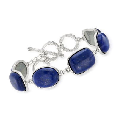 Lapis-Linked Bracelet in Sterling Silver
