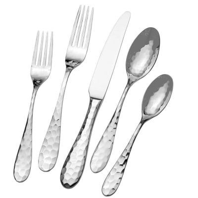 "Mikasa ""Lilah"" 45-pc. Service for 8 18/10 Stainless Steel Flatware Set"