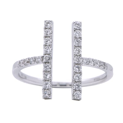 .39 ct. t.w. Diamond Open-Space Ring in 18kt White Gold