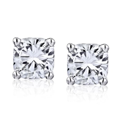 .95 ct. t.w. Diamond Stud Earrings in 14kt White Gold