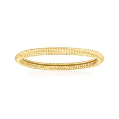 14kt Yellow Gold Rope-Style Ring