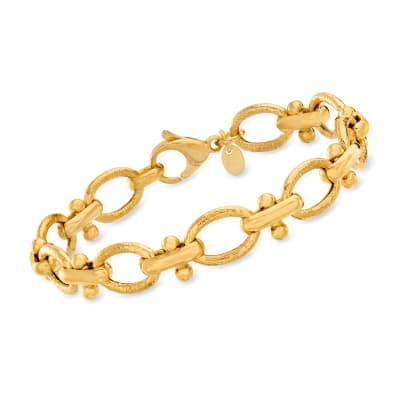 Italian 18kt Gold Over Sterling Link Bracelet