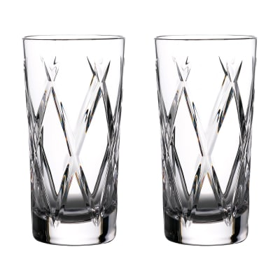 "Waterford Crystal ""Gin Journeys"" Set of Two Olann Highball Glasses"