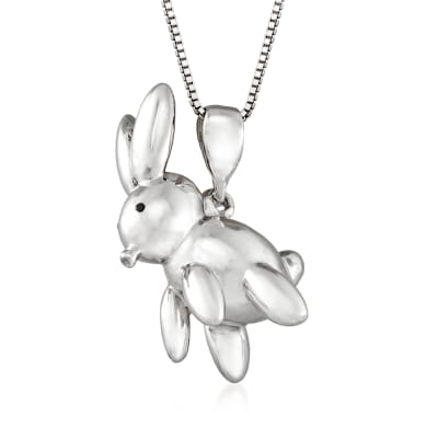 Sterling Silver Balloon Rabbit Pendant Necklace