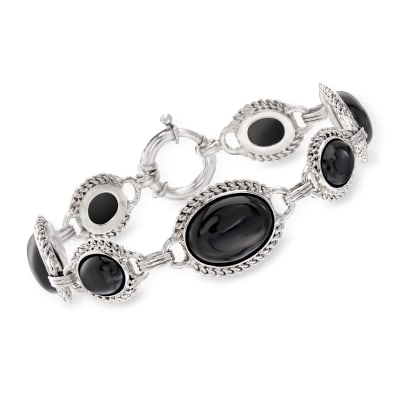 Black Onyx Bracelet in Sterling Sterling