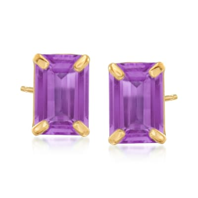 1.80 ct. t.w. Amethyst Stud Earrings in 14kt Yellow Gold