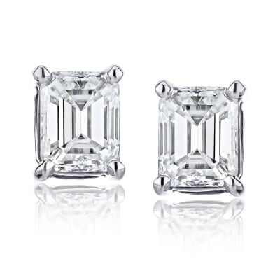 1.90 ct. t.w. Certified Diamond Stud Earrings in Platinum