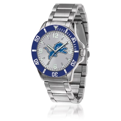 Men's 46mm NFL Detroit Lions Stainless Steel Key Watch
