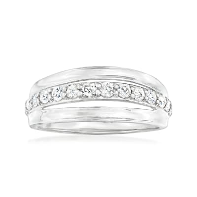 .50 ct. t.w. Diamond Row Ring in Sterling Silver