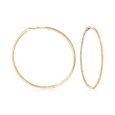 1.50 ct. t.w. Diamond Inside-Outside Large Hoop Earrings