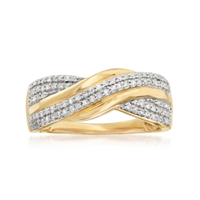 .25 ct. t.w. Diamond Twist Ring in 18kt Gold Over Sterling
