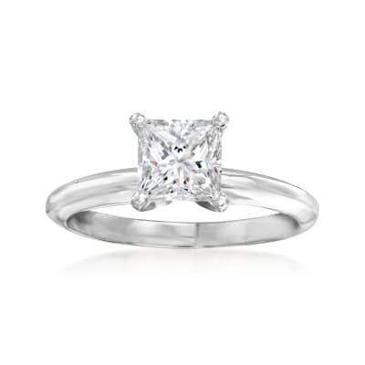 1.06 Carat Certified Diamond Solitaire Ring in 14kt White Gold