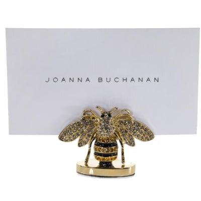 Joanna Buchanan Set of 2 Stripey Bee Place Card Holders