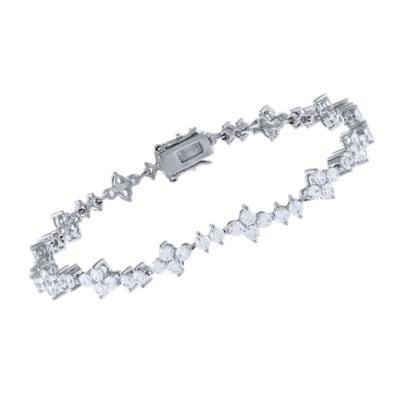5.25 ct. t.w. CZ Tennis Bracelet in Sterling Silver