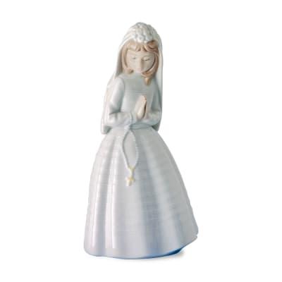 "Nao ""Girl Praying"" First Communion Porcelain Figurine"
