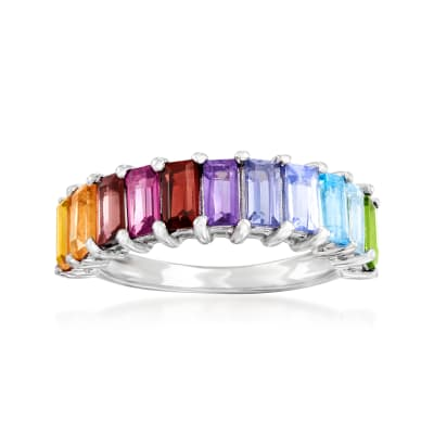 1.70 ct. t.w. Multi-Gemstone Ring in Sterling Silver