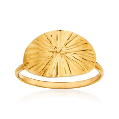 Italian 14kt Yellow Gold Starburst Ring