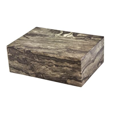 Marbled Gray Wooden Jewelry Box
