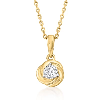 .20 Carat Diamond Pendant Necklace in 18kt Gold Over Sterling