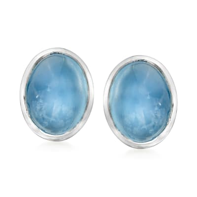 3.00 ct. t.w. Aquamarine Earrings in Sterling Silver