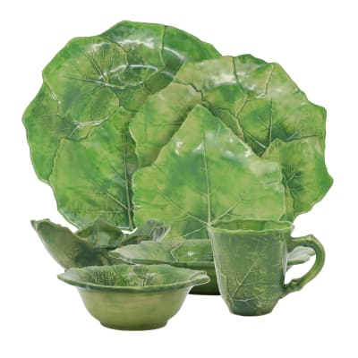 "Vietri ""Foglia"" Green Dinnerware from Italy"