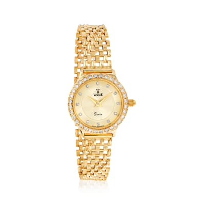 Vicence Women's 24mm .46 ct. t.w. Diamond Watch in 14kt Yellow Gold