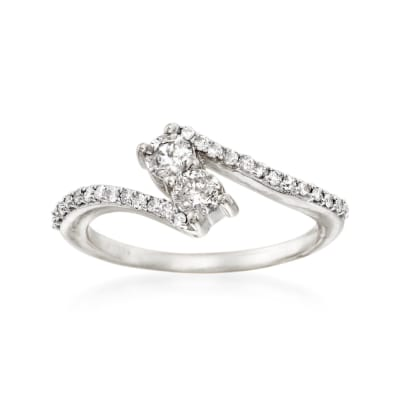 .50 ct. t.w. Diamond Two-Stone Ring in 14kt White Gold