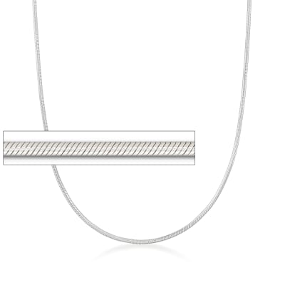 Italian 2mm Sterling Silver Snake Chain Necklace