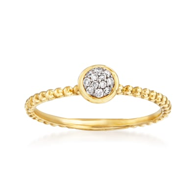 Gabriel Designs Diamond-Accented Center Ring in 14kt Yellow Gold