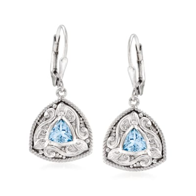 1.40 ct. t.w. Sky Blue Topaz Drop Earrings in Sterling Silver