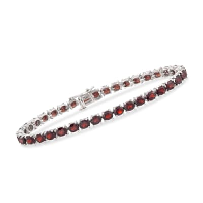 18.00 ct t.w. Garnet Tennis Bracelet in Sterling Silver