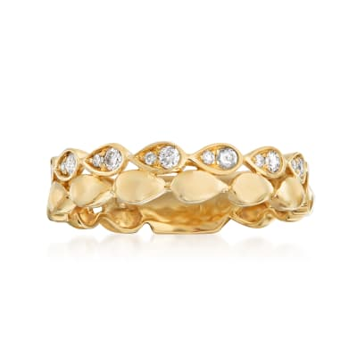 .25 ct. t.w. Diamond Double-Row Ring in 14kt Yellow Gold
