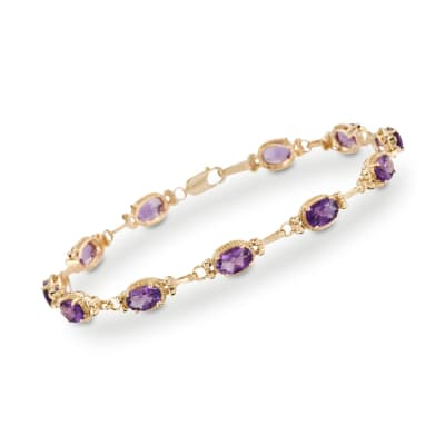 5.00 ct. t.w. Amethyst Bracelet in 14kt Yellow Gold