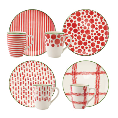 "Vietri ""Mistletoe"" Dinnerware Set"