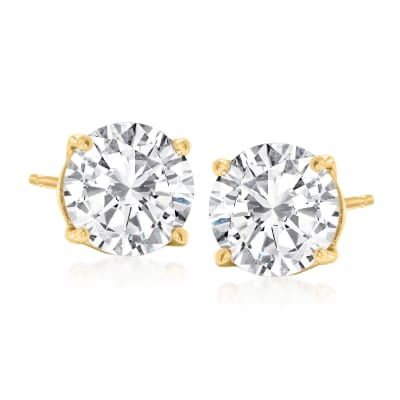 2.40 ct. t.w. Diamond Stud Earrings in 14kt Yellow Gold