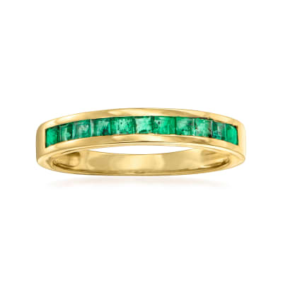 .50 ct. t.w. Emerald Ring in 14kt Yellow Gold