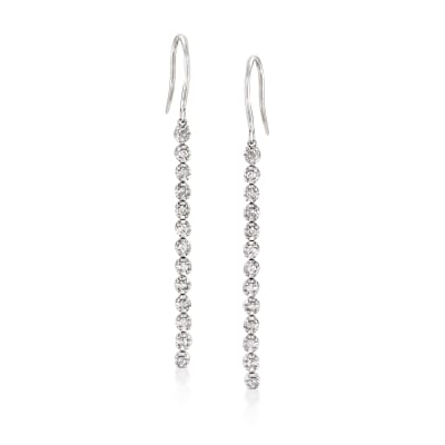 .50 ct. t.w. Diamond Linear Drop Earrings in Sterling Silver