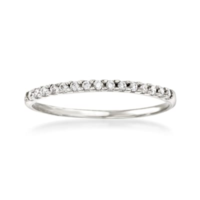 Italian .10 ct. t.w. CZ Ring in 14kt White Gold