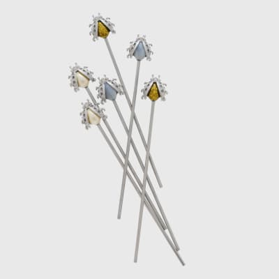 Joanna Buchanan Set of 6 Ladybug Swizzle Sticks