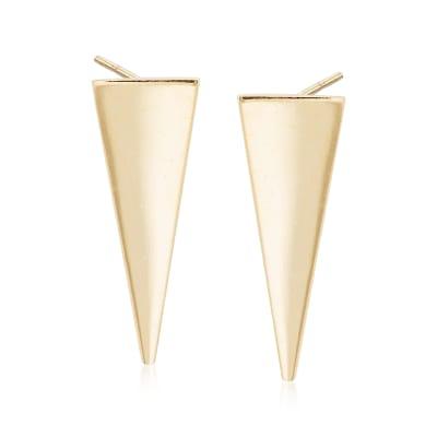 14kt Yellow Gold Triangle Drop Earrings