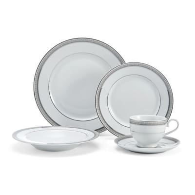 "Mikasa ""Platinum Crown"" 40-pc. Service for 8 Dinnerware Set"