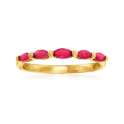 .40 ct. t.w. Ruby Ring in 14kt Yellow Gold