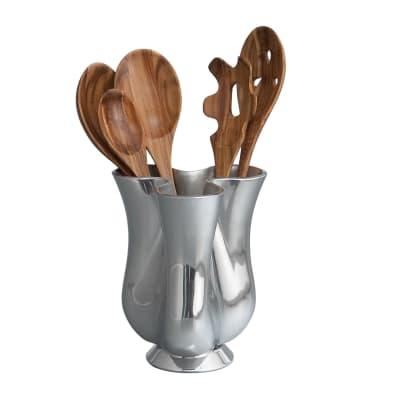 Nambe Tulip Jug with Acacia Wood Kitchen Tools