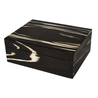 Black Zebra Wooden Jewelry Box