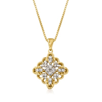 .25 ct. t.w. Diamond Kite Pendant Necklace in 18kt Gold Over Sterling